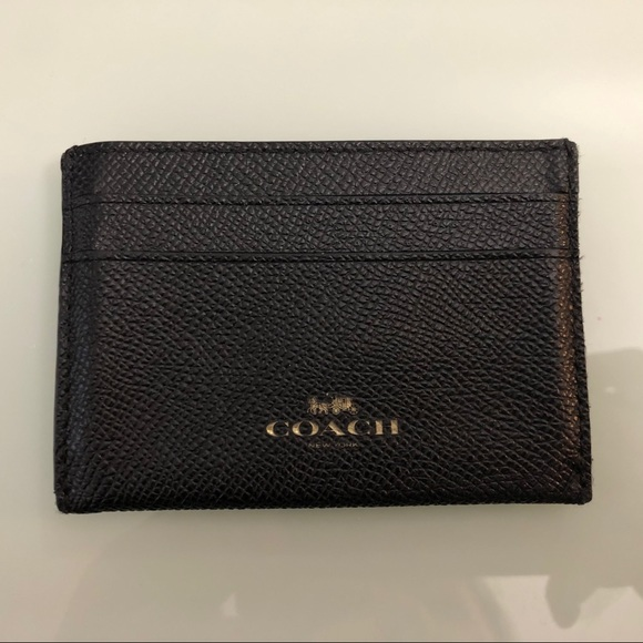 Coach leather card holder!
